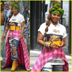 Janet Jackson Gets Colorful While Shooting New Music Video!