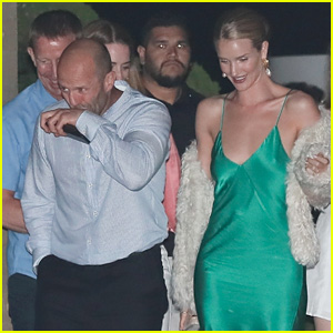 Jason Statham & Rosie Huntington-Whiteley Go Out to Dinner With Family in Malibu!