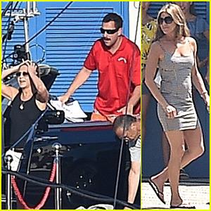 Jennifer Aniston, Luke Evans, & Adam Sandler Begin Filming 'Murder Mystery' in Italy!