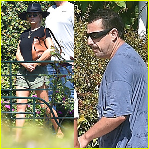 Jennifer Aniston & Adam Sandler Check Out Portofino Ahead of 'Murder Mystery' Filming