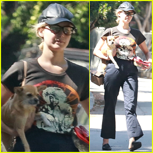 Jennifer Lawrence Takes Her Pup Pippi to Lunch in Beverly Hills!