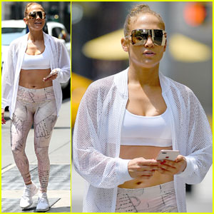 Jennifer Lopez Braves the Scorching Hot Weather for a Trip to the Gym