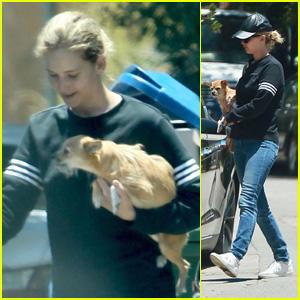 Jennifer Lawrence & Her Dog Pippi Visit a Friend in Beverly Hills!