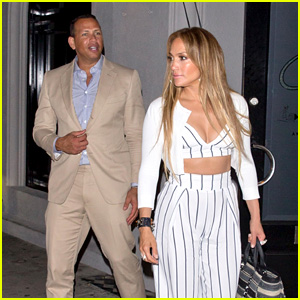 Jennifer Lopez & Boyfriend Alex Rodriguez Get Dinner Together at Craig's