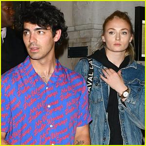 Joe Jonas & Fiancee Sophie Turner Step Out for Date Dinner in London