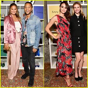 John Legend & Chrissy Teigen Support  Brooklyn Decker at Finery App Launch Party!