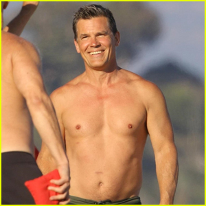 Josh Brolin Goes Shirtless for 4th of July Beach House Party!