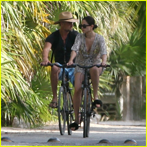 Josh Duhamel & Eiza Gonzalez Go on a Bike Ride While on Vacation in Mexico!