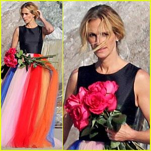 Julia Roberts Stuns in Rainbow Tulle Skirt for Photo Shoot in Malibu