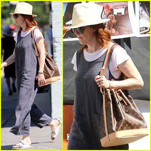Julianne Moore Dons Grey Jumpsuit During Break From 'After the Wedding' Filming