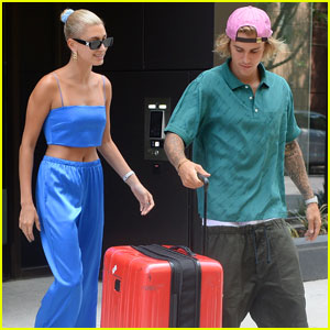 Justin Bieber & Hailey Baldwin Jet Out of New York City Together!