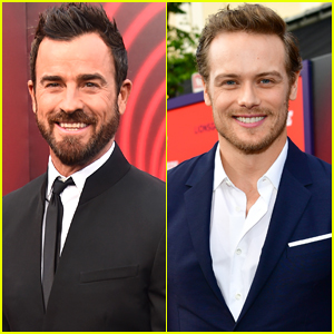 Justin Theroux & Sam Heughan Are Two Dapper Dudes at 'The Spy Who Dumped Me' Premiere!