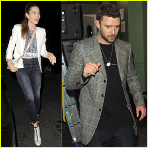 Justin Timberlake & Jessica Biel Couple Up for Drake's New Album Launch Party