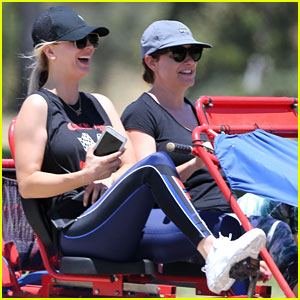 Kaley Cuoco Takes a Trike Bike Ride Around a Park in LA!