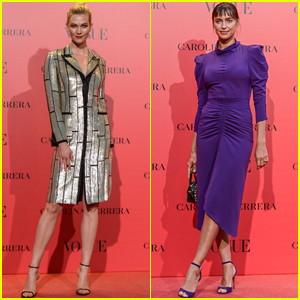 Karlie Kloss Joins Irina Shayk at Vogue Spain Event in Madrid