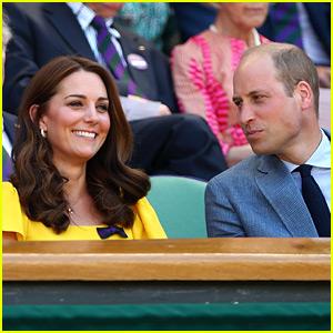 Duchess Kate Middleton & Prince William Watch Men's Wimbledon Final