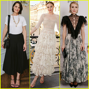 Katie Holmes, Kate Bosworth, & Emma Roberts Look Chic at Christian Dior Dinner