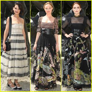 Katie Holmes, Kate Bosworth & Zoey Deutch Sit Front Row at Dior Haute Couture Paris Fashion Show!