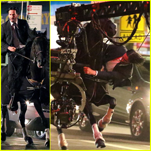 Keanu Reeves Performs This Crazy Stunt on a Horse for 'John Wick 3'