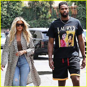 Khloe Kardashian & Tristan Thompson Head Out Together for Lunch at Benihana!