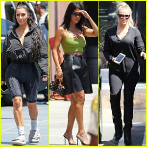 Kim, Khloe & Kourtney Kardashian Stop By 'Saved By The Bell' Pop-Up Diner