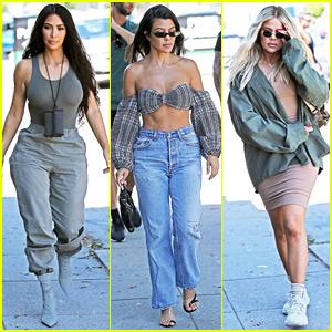 d58a459029ca Kim, Kourtney, & Khloe Kardashian Take a Painting Class Together ...