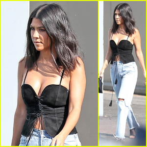 Kourtney Kardashian Looks Hot in a Corset Top While Heading Out of the Studio!