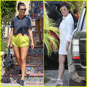 Kourtney Kardashian Looks Cute in a Crop Top While Running Errands in Los Angeles