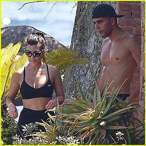 Kourtney Kardashian & Shirtless Younes Bendjima Sweat It Out in Portofino!