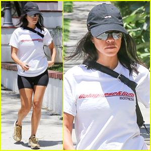Kourtney Kardashian Rocks Tiny Biker Shorts in Beverly Hills