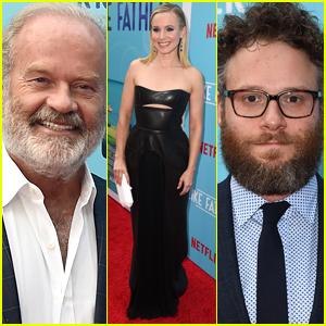 Kristen Bell Joins Kelsey Grammer & Seth Rogen at 'Like Father' Premiere
