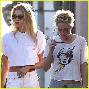 Kristen Stewart Sports David Bowie T-Shirt With Stella Maxwell