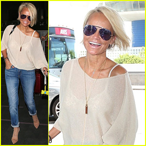Kristin Chenoweth Shows Off New Short Haircut at the Airport