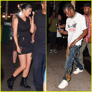 Kylie Jenner & Travis Scott Grab Dinner Together in New York City!