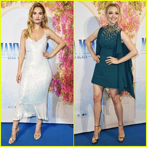 Lily James & Amanda Seyfried Join 'Mamma Mia' Sequel Cast at Sweden Premiere!