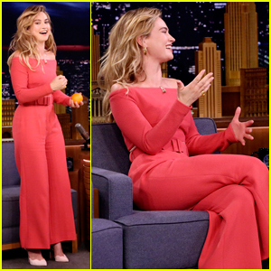 Lily James Plays Hilarious Round of 'The Whisper Challenge' on 'The Tonight Show' - Watch Here!