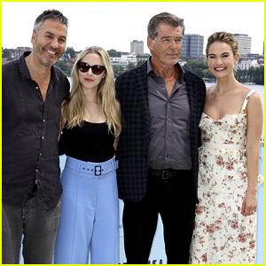 Amanda Seyfried & Lily James Bring 'Mamma Mia' Sequel to Germany!