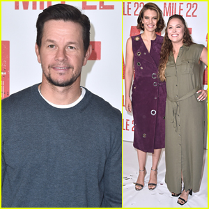 Mark Wahlberg Joins Lauren Cohan & Ronda Rousey at 'Mile 22' Photo Call