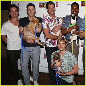 Matt Bomer, Zachary Quinto, Charlie Carver & More Support Broadway Barks