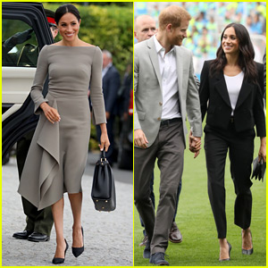 Duchess Meghan Markle Rocks a Chic Pantsuit & a Stunning Dress in Dublin!