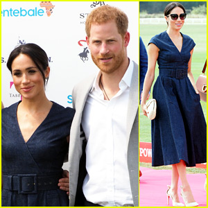 Duchess Meghan Markle Makes Surprise Appearance to Watch Polo with Prince Harry
