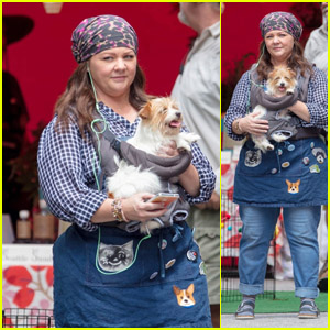 Melissa McCarthy Films 'Superintelligence' With an Adorable Pup!