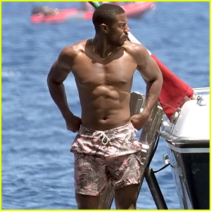 Michael B. Jordan Shows Off His Toned Body While Vacationing in Italy!
