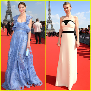Michelle Monaghan & Vanessa Kirby Pose in Front of Eiffel Tower at 'M:I - Fallout' Premiere!