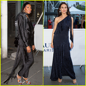 Naomi Campbell & Olga Kurylenko Step Out In Style for Tresors d'Afrique Unvelling!