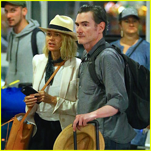 Naomi Watts & Billy Crudup Fly Into New York City Together