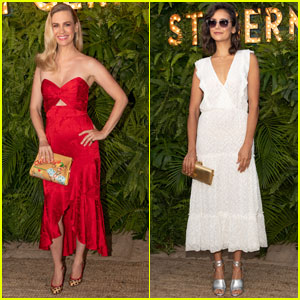 January Jones & Nina Dobrev Step Out For 'Maison St-Germain's Summer Party