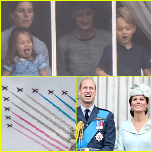 Princess Charlotte & Prince George Catch the Royal Air Force Show From Buckingham Palace!