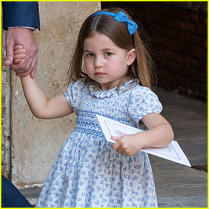 Princess Charlotte Appears to Sass Photographers at Prince Louis' Christening!