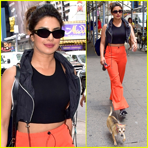 Priyanka Chopra Takes Her Little Pup Diana for a Walk in NYC!